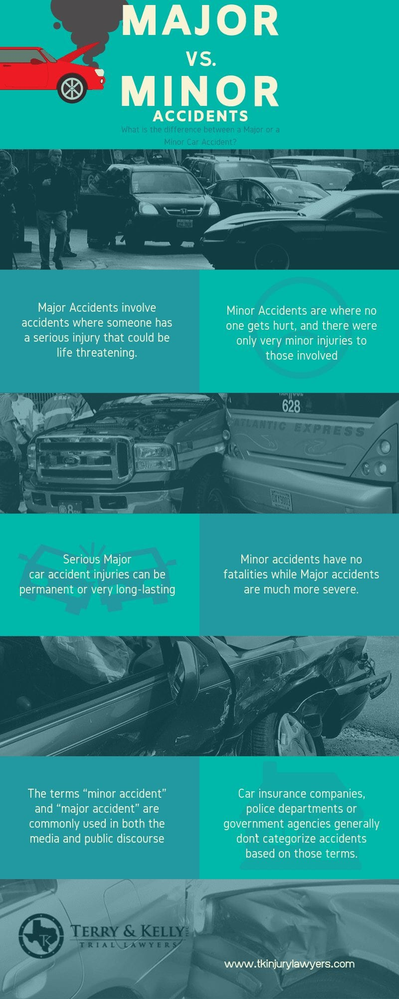Differences Between Minor and Major Auto Accidents