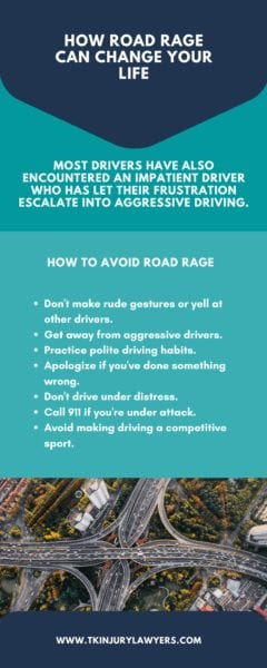 How to Avoid Road Rage infographic